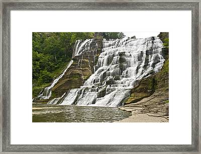 Ithaca Falls Framed Print by Anthony Sacco