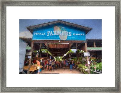 Ithaca Farmer's Market Framed Print by Michele Steffey