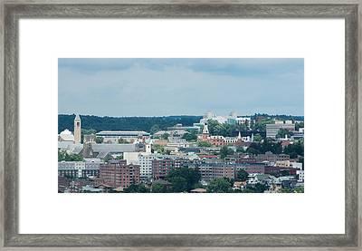 Ithaca New York And Cornell University Framed Print by Photographic Arts And Design Studio