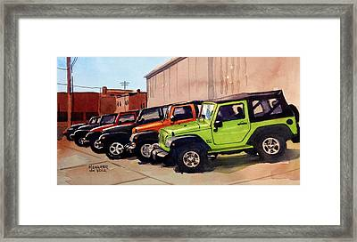 It's A Jeep Thing Framed Print by Spencer Meagher