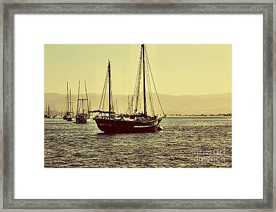 Its A Sailors Life Framed Print by Cheryl Young