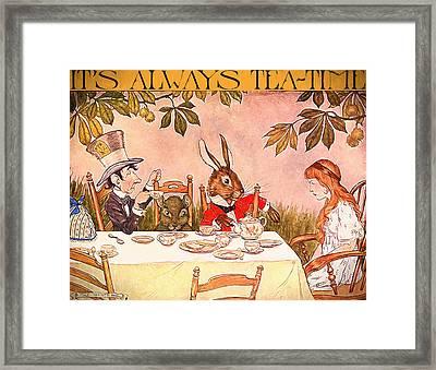 It's Always Tea-time Framed Print by John K Woodruff