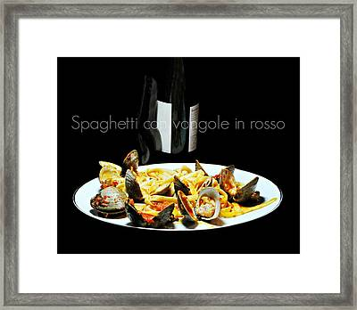It's What's For Dinner Framed Print by Diana Angstadt