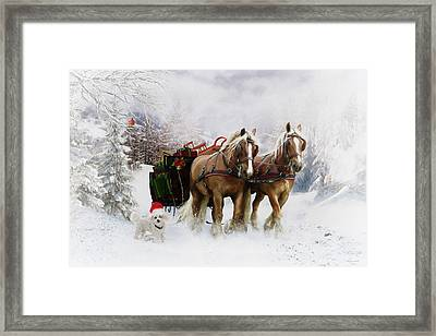 A Christmas Wish Framed Print by Shanina Conway