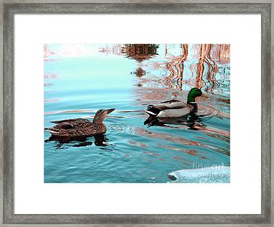It's Cold Framed Print by Tanya Hamell