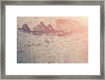It's Death Again Framed Print by Waleed Sherif