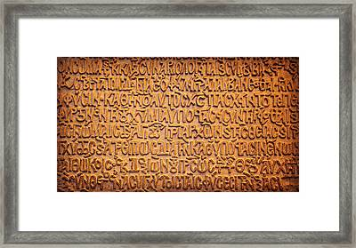 It's Greek To Me Framed Print by Stephen Stookey