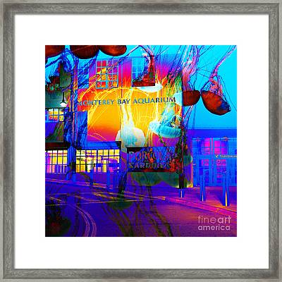 Its Raining Jelly Fish At The Monterey Bay Aquarium 5d25177 Square Framed Print by Wingsdomain Art and Photography