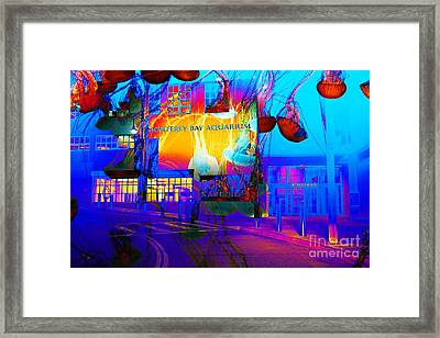 Its Raining Jelly Fish At The Monterey Bay Aquarium 5d25177 Framed Print by Wingsdomain Art and Photography