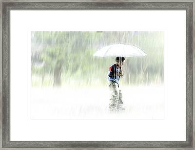 It's Raining Outside Framed Print by Heiko Koehrer-Wagner