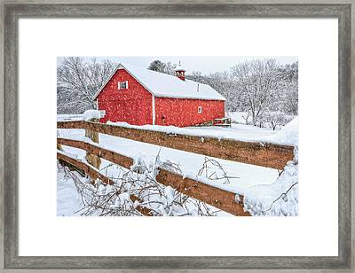It's Snowing Framed Print by Bill Wakeley