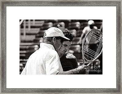 Ivan Lendl And Andy Murray  Framed Print by Nishanth Gopinathan