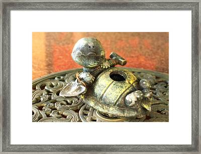 I've Fallen And I Can't Get Up Framed Print by Joan Bertucci