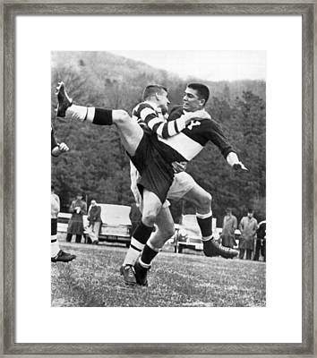 Ivy League Rugby Match Framed Print by Underwood Archives