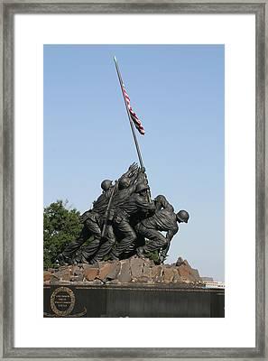 Iwo Jima Memorial - 12121 Framed Print by DC Photographer