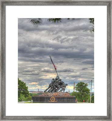Iwo Jima Memorial - Washington Dc - 01131 Framed Print by DC Photographer