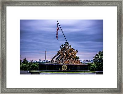 Iwo Jima Monument Framed Print by David Morefield