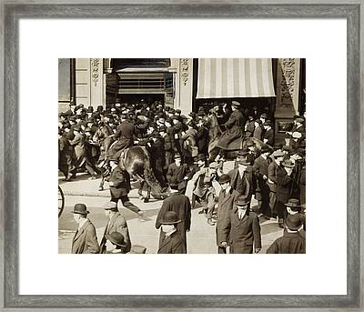 Iww Demonstration, 1914 Framed Print by Granger
