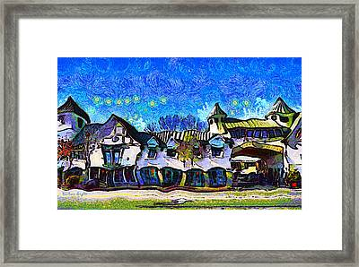 Izod Building In Downtown Solvang California Framed Print by Barbara Snyder