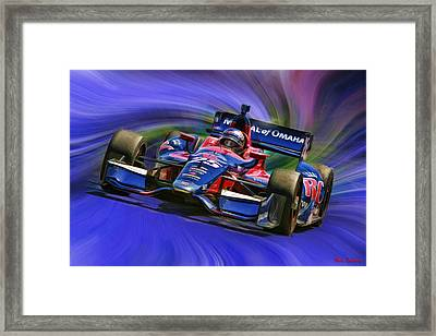 Izod Indycar Series Marco Andretti  Framed Print by Blake Richards