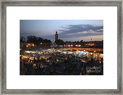 J Ma Fna Place Marrakesh Framed Print by Sophie Vigneault