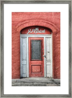 J. Popich Framed Print by Brenda Bryant