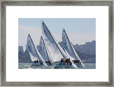 J70s March To The Cityfront Framed Print by Steven Lapkin