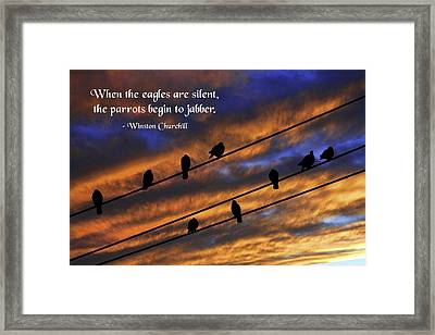 Jabbers Framed Print by Mike Flynn