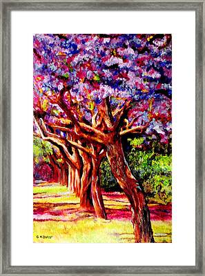 Jacaranda Lane Framed Print by Michael Durst
