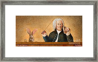 Jack And A Beer Bach... Framed Print by Will Bullas