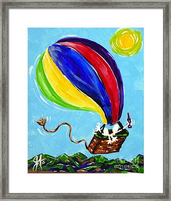 Jack And Charlie Fly Away Framed Print by Jackie Carpenter