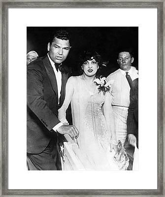 Jack Dempsey & Estelle Taylor Framed Print by Underwood Archives