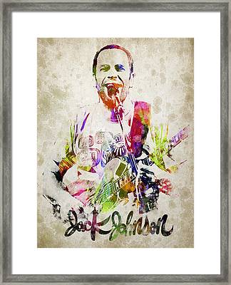 Jack Johnson Portrait Framed Print by Aged Pixel
