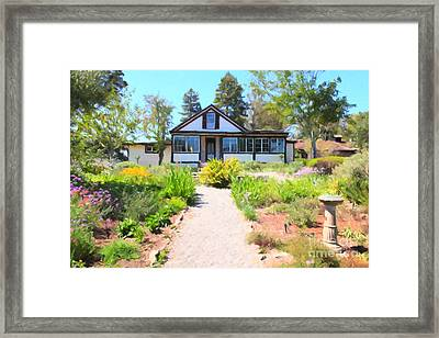 Jack London Countryside Cottage And Garden 5d24565 Framed Print by Wingsdomain Art and Photography