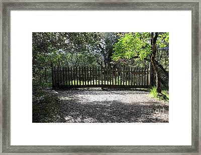 Jack London Grave Site 5d21982 Framed Print by Wingsdomain Art and Photography