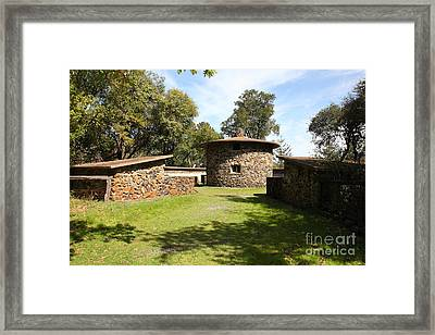 Jack London Ranch Pig Palace 5d22150 Framed Print by Wingsdomain Art and Photography