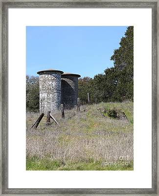 Jack London Ranch Silos 5d22146 Framed Print by Wingsdomain Art and Photography