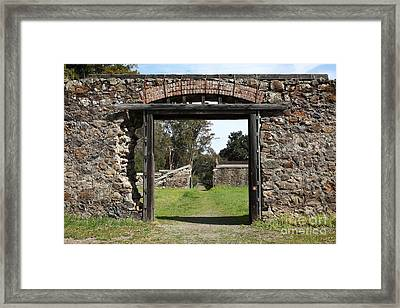 Jack London Ranch Winery Ruins 5d22128 Framed Print by Wingsdomain Art and Photography