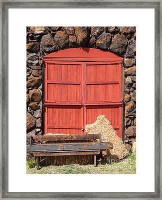 Jack London Stallion Barn 5d22103 Framed Print by Wingsdomain Art and Photography