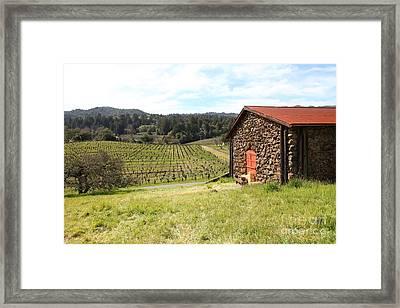 Jack London Stallion Barn 5d22106 Framed Print by Wingsdomain Art and Photography