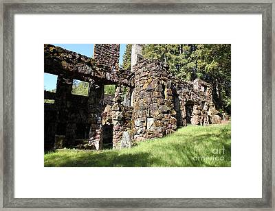 Jack London Wolf House 5d22014 Framed Print by Wingsdomain Art and Photography