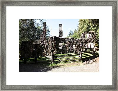 Jack London Wolf House 5d22040 Framed Print by Wingsdomain Art and Photography