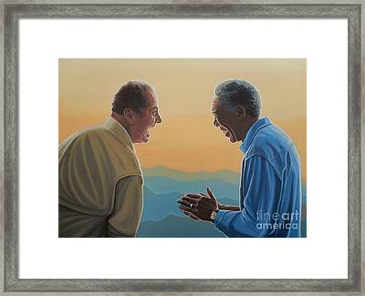 Jack Nicholson And Morgan Freeman Framed Print by Paul Meijering