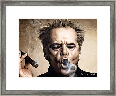 Jack Nicholson Framed Print by Andrzej Szczerski