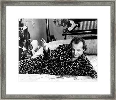 Jack Nicholson In The Witches Of Eastwick  Framed Print by Silver Screen