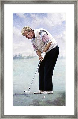 Jack Nicklaus Framed Print by Gregory Perillo