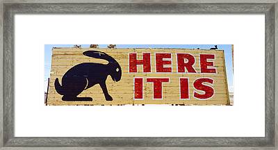 Jack Rabbit Trading Post Sign Joseph Framed Print by Panoramic Images