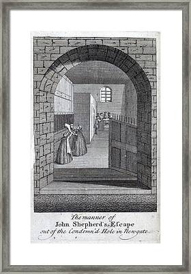 Jack Sheppard Escaping Framed Print by British Library