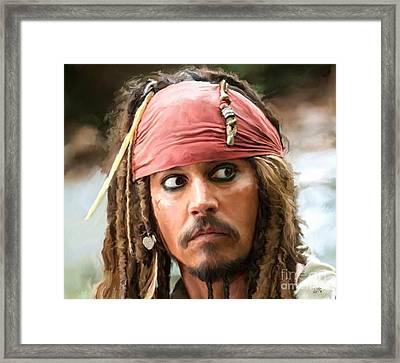Jack Sparrow Framed Print by Paul Tagliamonte