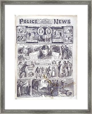 Jack The Ripper Framed Print by British Library